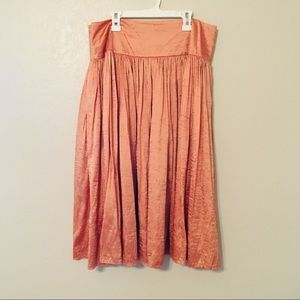 Talbots Orange Skirt